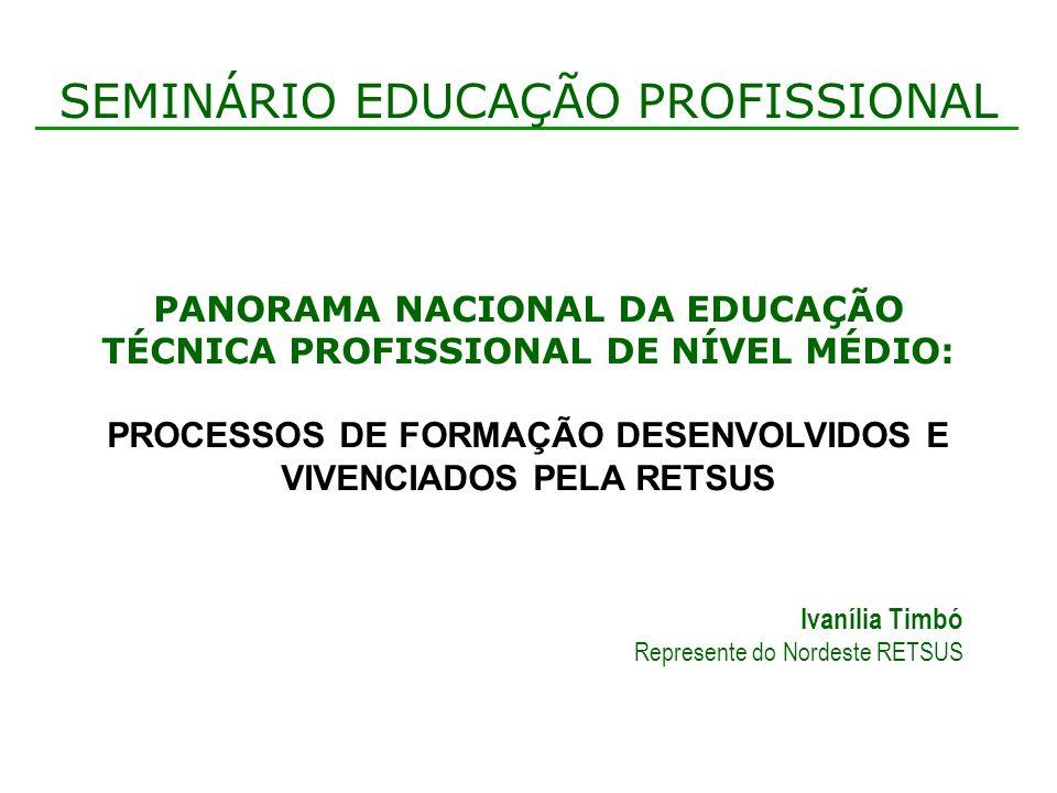 Quanto ao modelo pedagógico Princípios e diretrizes do SUS como norteadores dos planos de curso.