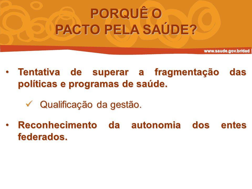 PACTO PELA SAÚDE DESAFIOS Desafios Promover inovações nos processos e instrumentos de gestão.