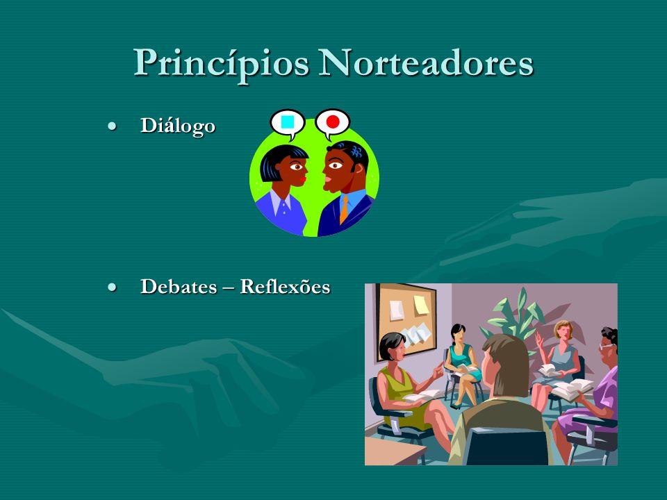 Princípios Norteadores Di á logo Di á logo Debates – Reflexões Debates – Reflexões