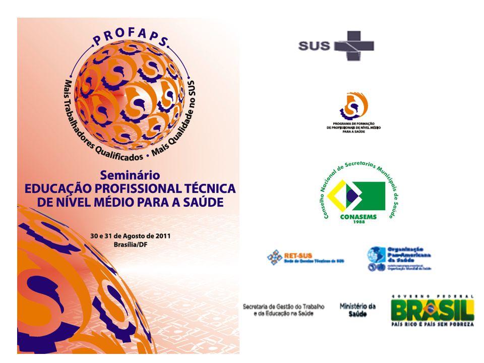 Agenda Estratégica para a Educação Profissional Constituição de Comissão Interministerial –Saúde e Educação Profissional de Nível Médio (a partir do Decreto Presidencial de 2007) para fortalecimento das formações previstas no PROFAPS.