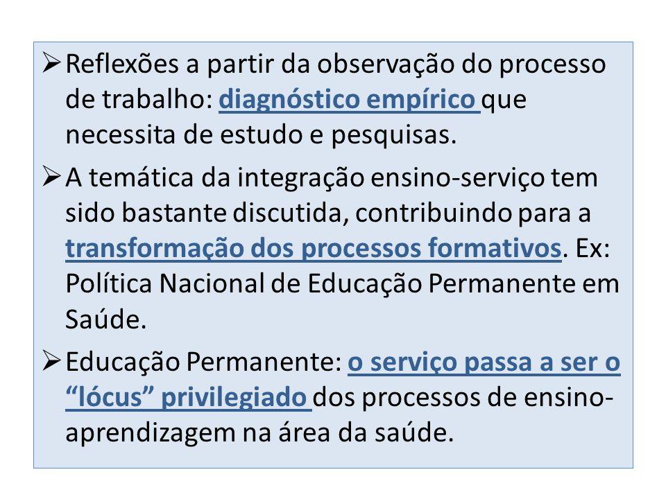 Escolas Técnicas do SUS: instâncias formadoras que possuem o trabalho como princípio educativo e metodologia problematizadora como proposta pedagógica.