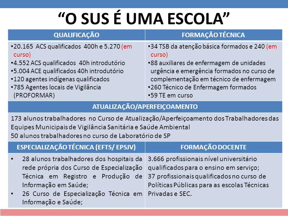 Resultados Dissertações Mestrado Profissional Instrumento de avaliação da formação Técnica do Agente Comunitário de Saúde: desempenho final.