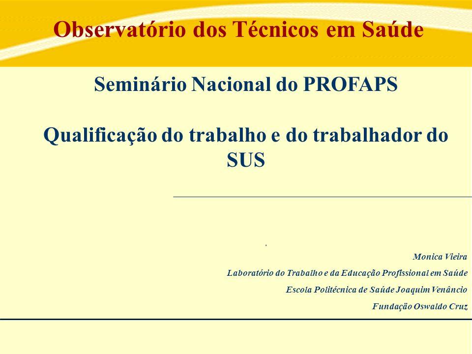 Monica Vieira Laboratório do Trabalho e da Educação Profissional em Saúde Escola Politécnica de Saúde Joaquim Venâncio Fundaçäo Oswaldo Cruz Seminário