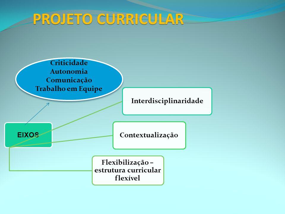 6. Organização Curricular Disciplinas => Fragmentação, compartimentalização dos conhecimentos Módulos – possibilita a escolha de diferentes caminhos =