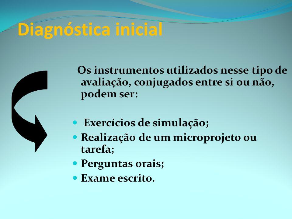 É importante planejar a avaliação considerando-se três de suas dimensões fundamentais Diagnóstica inicial; Formativa; Recapitulativa. (dimensão certif