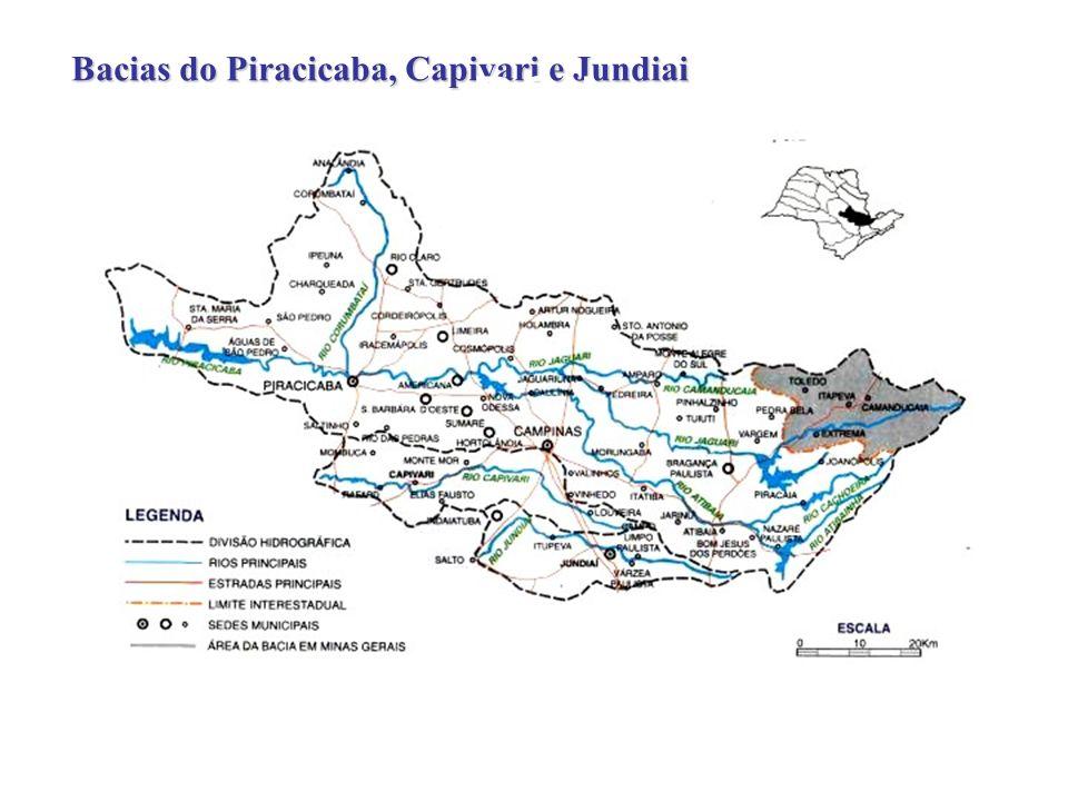 Rio Piracicaba: 156 m 3 /sRio Piracicaba: 156 m 3 /s Rio Jaguari: 55 m 3 /sRio Jaguari: 55 m 3 /s Rio Atibaia: 37 m 3 /sRio Atibaia: 37 m 3 /s 61 counties61 counties 2.8 million people2.8 million people intense water useintense water use Land-use - 1993 35% sugar-cane35% sugar-cane 24% pasture24% pasture 16% silviculture16% silviculture How human actions affect natural attributes.