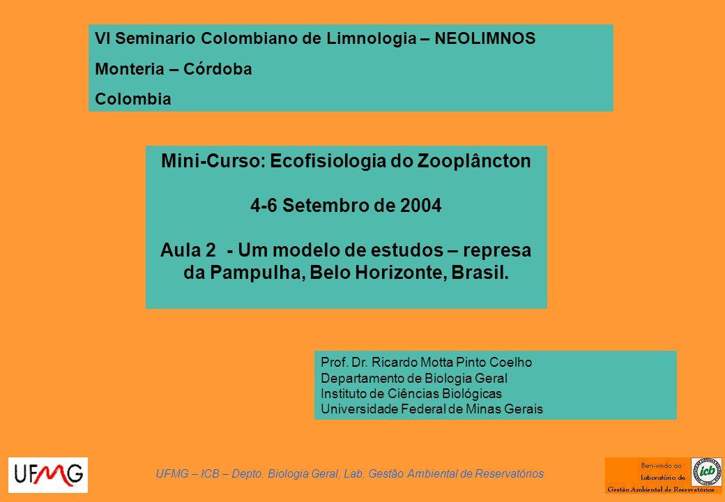 Mini-Curso: Ecofisiologia do Zooplâncton 4-6 Setembro de 2004 Aula 2 - Um modelo de estudos – represa da Pampulha, Belo Horizonte, Brasil.