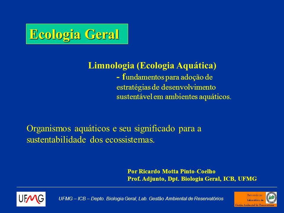 UFMG – ICB – Depto. Biologia Geral, Lab. Gestão Ambiental de Reservatórios