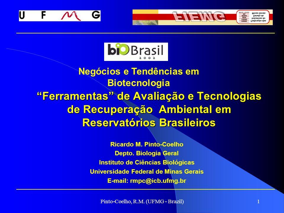 Pinto-Coelho, R.M. (UFMG - Brazil)1 Ferramentas de Avaliação e Tecnologias de Recuperação Ambiental em Reservatórios Brasileiros Ricardo M. Pinto-Coel