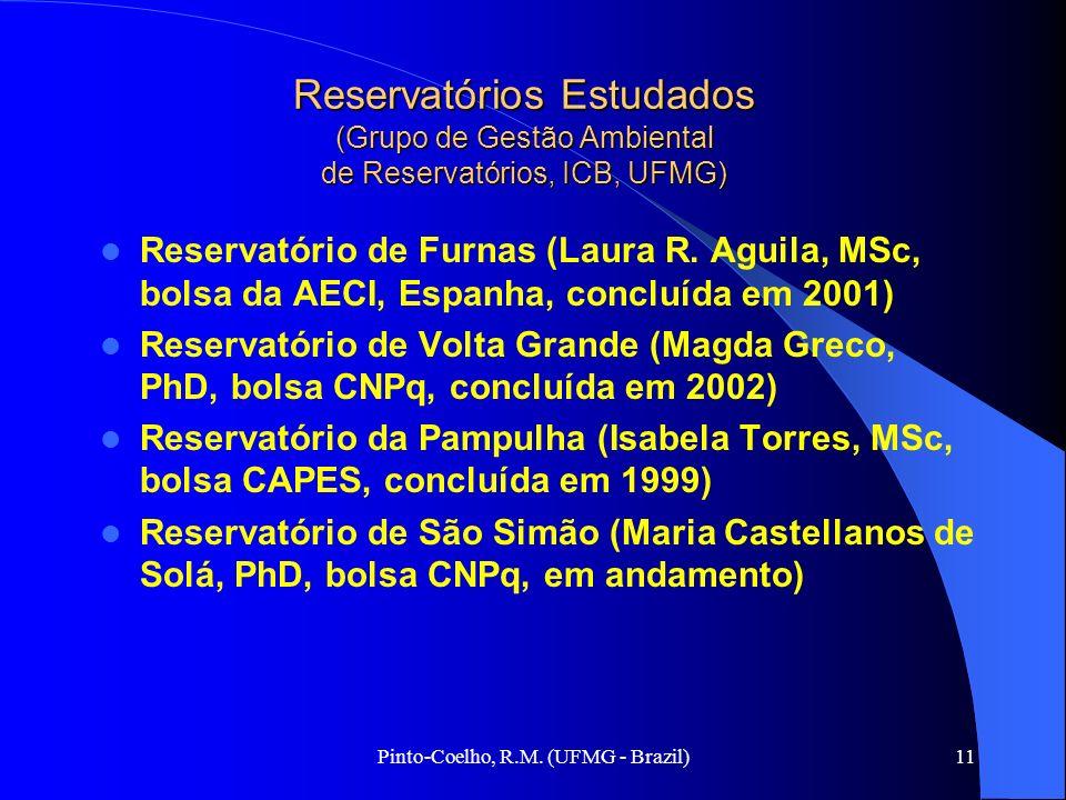 Pinto-Coelho, R.M. (UFMG - Brazil)11 Reservatórios Estudados (Grupo de Gestão Ambiental de Reservatórios, ICB, UFMG) Reservatório de Furnas (Laura R.