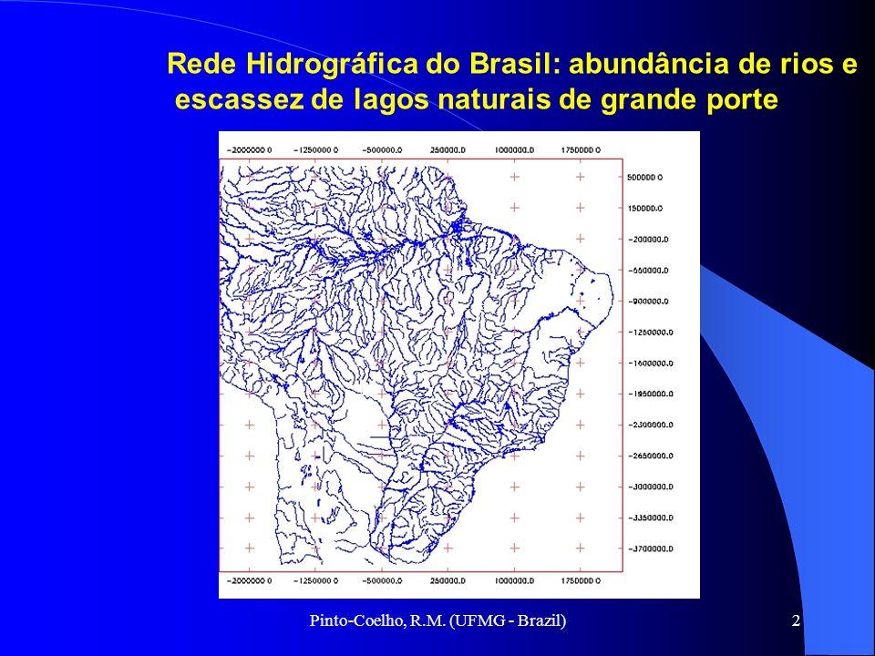 Pinto-Coelho, R.M. (UFMG - Brazil)2 Rede Hidrográfica do Brasil: abundância de rios e escassez de lagos naturais de grande porte