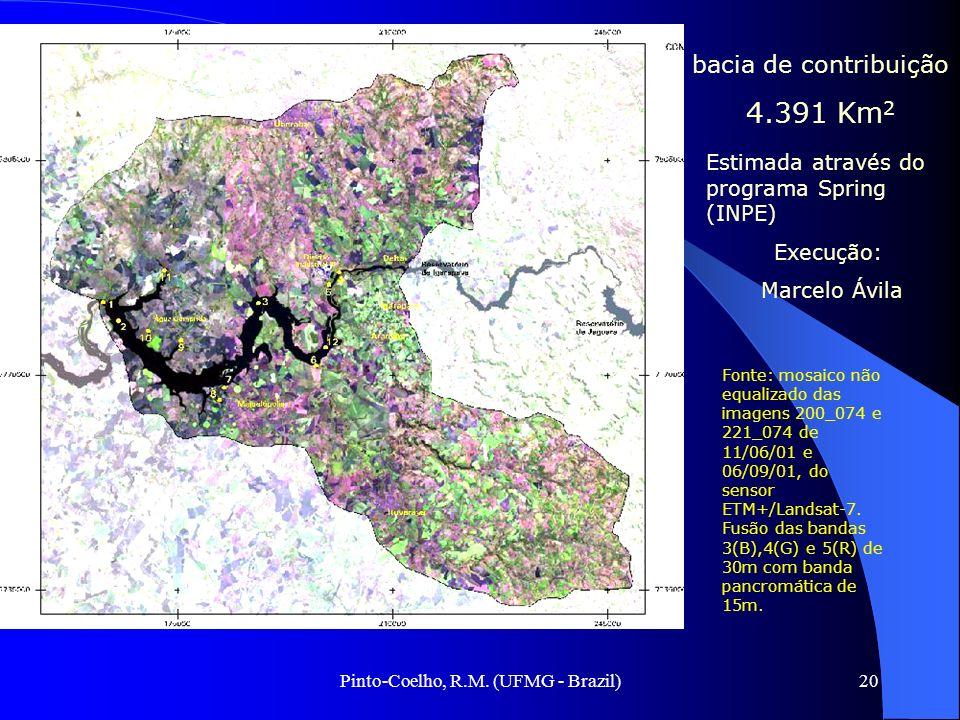 Pinto-Coelho, R.M. (UFMG - Brazil)20 bacia de contribuição 4.391 Km 2 Fonte: mosaico não equalizado das imagens 200_074 e 221_074 de 11/06/01 e 06/09/