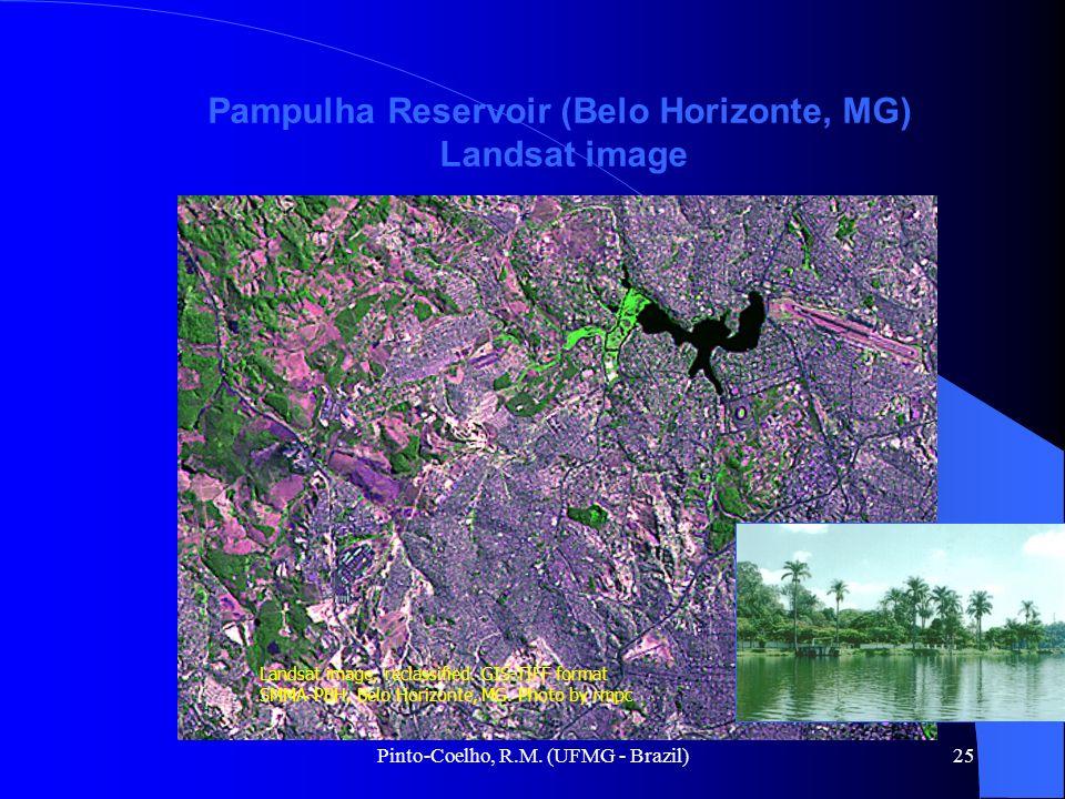 Pinto-Coelho, R.M. (UFMG - Brazil)25 Pampulha Reservoir (Belo Horizonte, MG) Landsat image Landsat image, reclassified. GIS-TIFF format SMMA-PBH, Belo