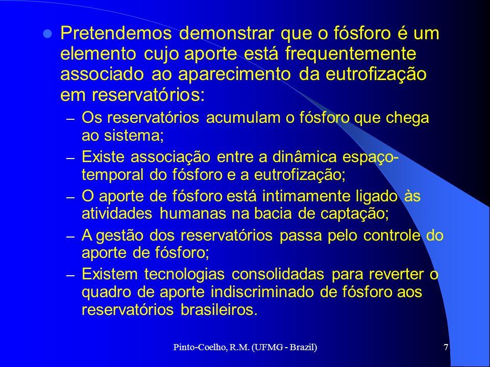 Pinto-Coelho, R.M. (UFMG - Brazil)7 Pretendemos demonstrar que o fósforo é um elemento cujo aporte está frequentemente associado ao aparecimento da eu