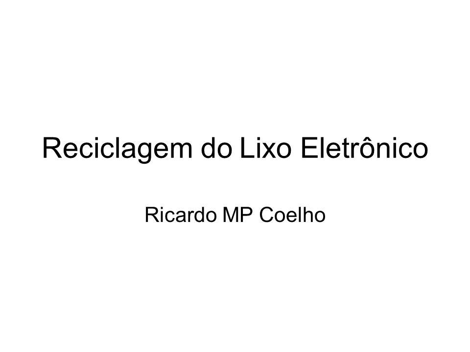 Reciclagem do Lixo Eletrônico Ricardo MP Coelho