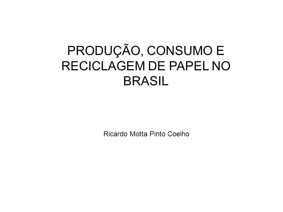 Ricardo Motta Pinto Coelho PRODUÇÃO, CONSUMO E RECICLAGEM DE PAPEL NO BRASIL