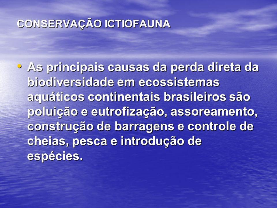Controle da Pesca - Interdição de Aparelhos de Pesca Consiste na proibição de uso de aparelhos ou métodos de pesca não seletivos às formas jovens ou a espécies de interesse conservacionista.