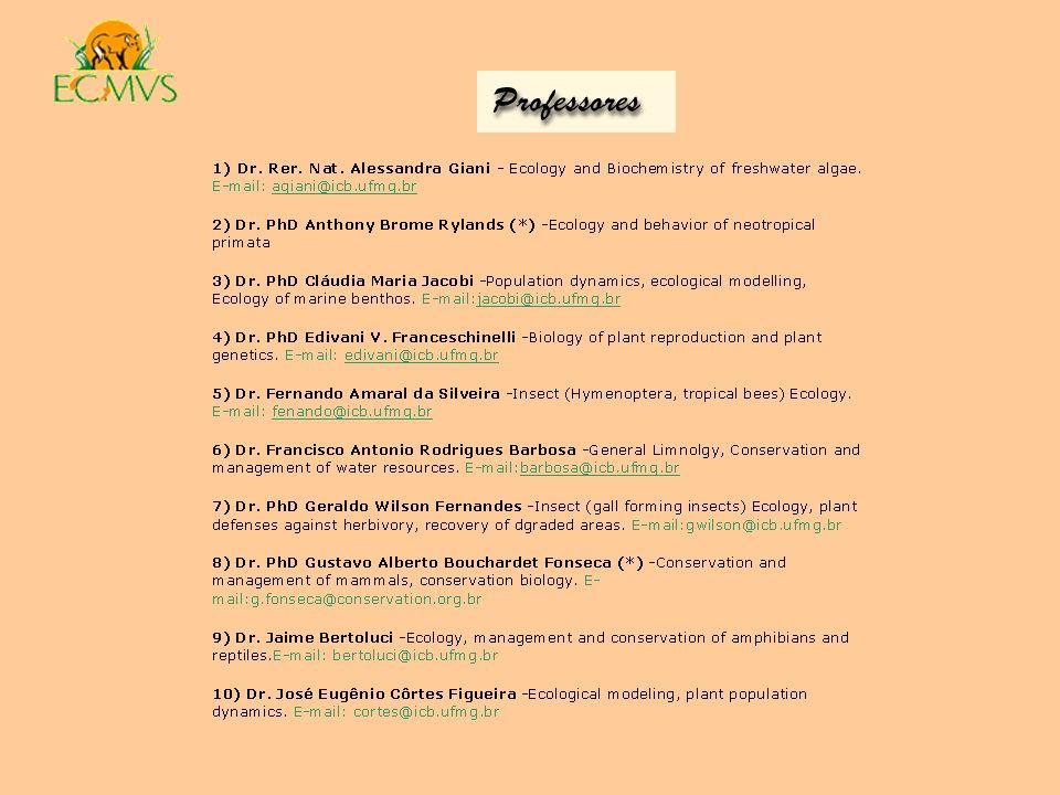 Contatos e Informações: Coordenação do programa PG ECMVS Ricardo M.