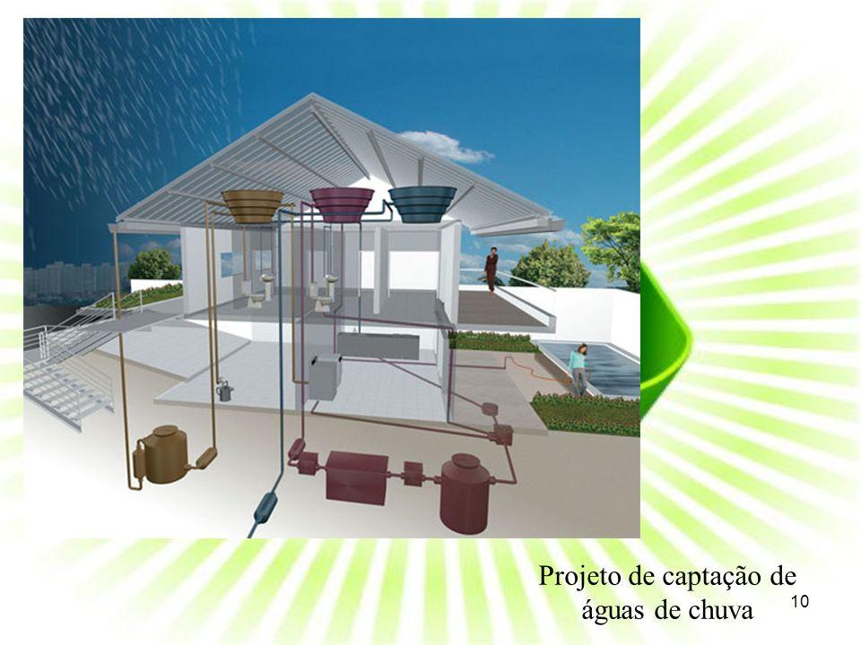 Projeto de captação de águas de chuva 10