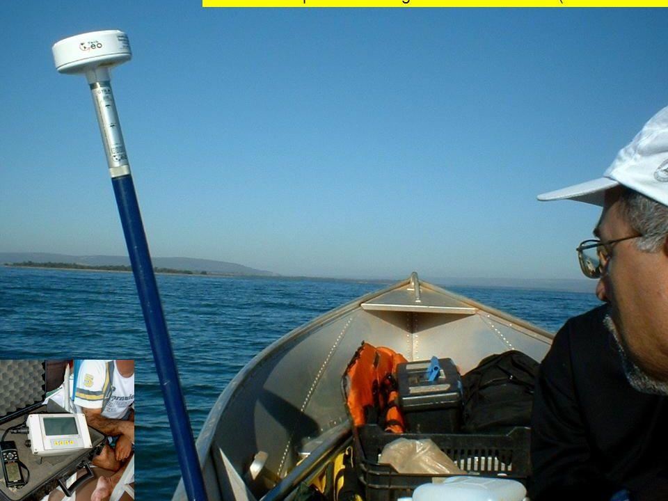 Uso em campo do DGPS geodésico Tech Geo (Reservatório de Furnas)
