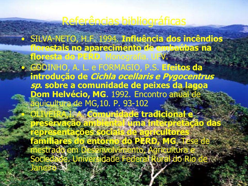 Referências bibliográficas SILVA-NETO, H.F.1994.