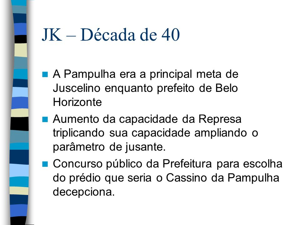JK queria uma arquitetura nova e genuinamente brasileira, que espelhasse o progresso e a modernidade da época.