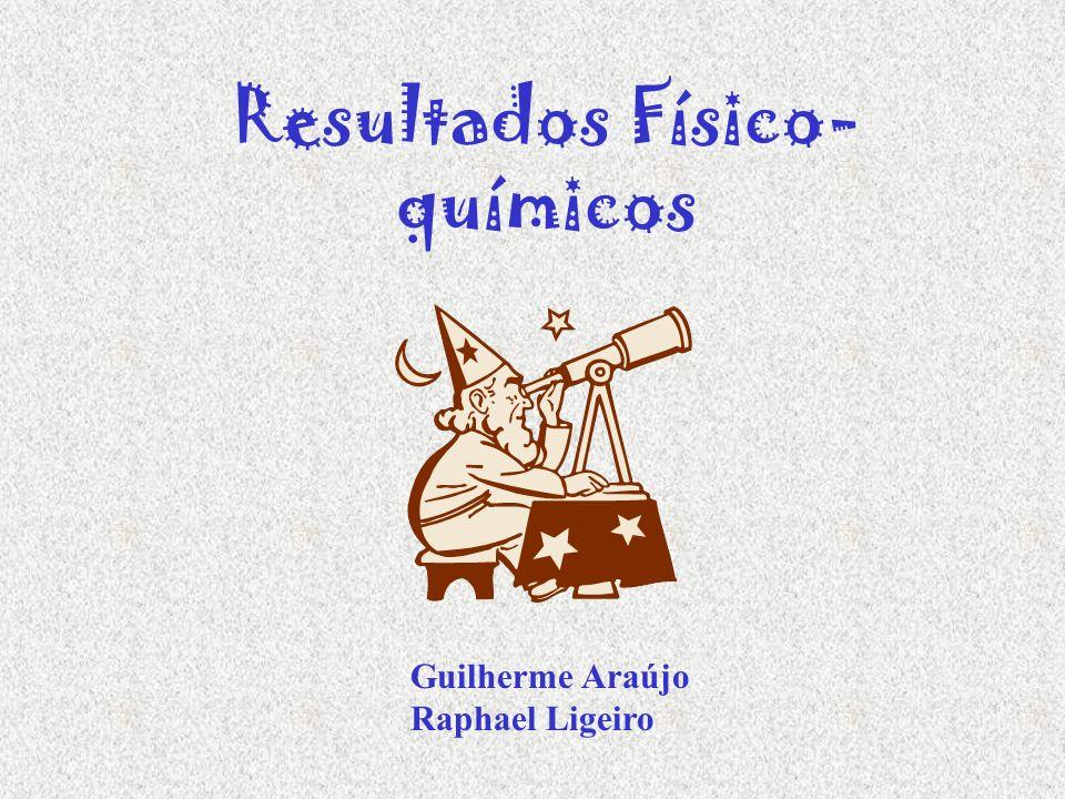 Resultados Físico- químicos Guilherme Araújo Raphael Ligeiro