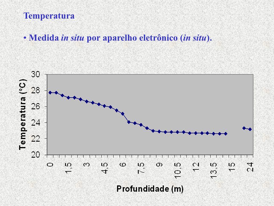 Sólidos totais nas demais estações a aproximadamente 2,2 m de profundidade