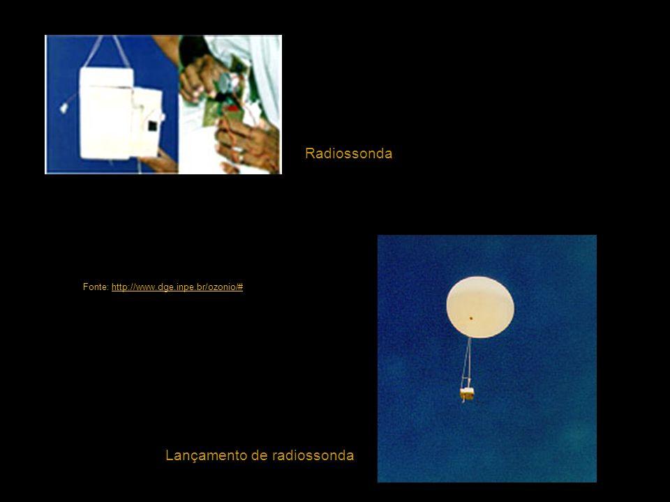 Lançamento de radiossonda Radiossonda Fonte: http://www.dge.inpe.br/ozonio/#http://www.dge.inpe.br/ozonio/#