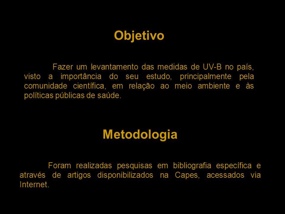 Camada de Ozônio e Radiação UV-B Formação Destruição Fonte: http://www.wwf.org.br/informacoes/questoes_ambientais/camada_ozonio/index.cfmhttp://www.wwf.org.br/informacoes/questoes_ambientais/camada_ozonio/index.cfm Fonte: http://www.geocities.com/leandrox2000/014.gifhttp://www.geocities.com/leandrox2000/014.gif