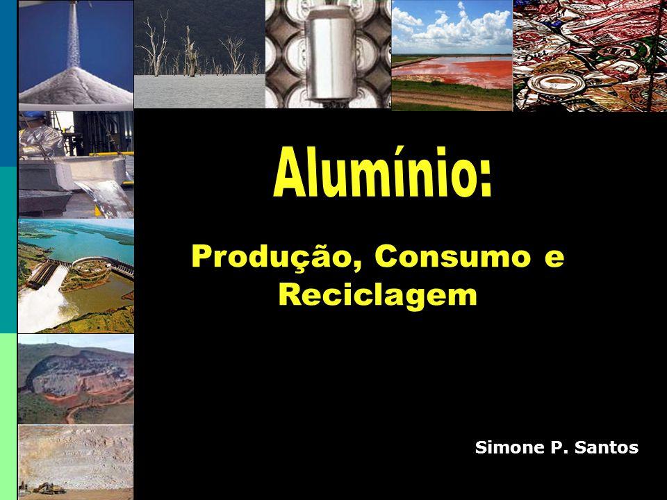 As latinhas 20 latas Alumínio reciclado 1 lata Alumínio Primário Energia 5 t de Bauxita 2 t de Alumina1 t de Alumínio Economia de Etapas = 95% Economia de energia = economia de 1/2 tempo = Economia de 1/10 dos custos 100% infinitamente e reciclável Reciclagem 1 lata Alumínio reciclado 5% Energia Ligada por 3 horas