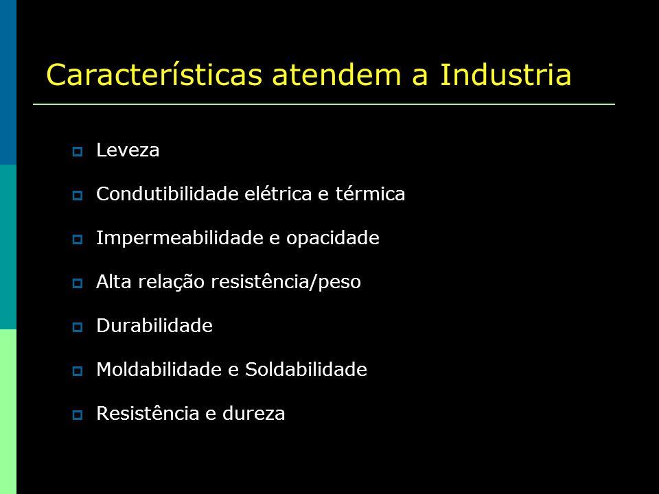 Consumo de alumínio no Brasil por segmento (2004):