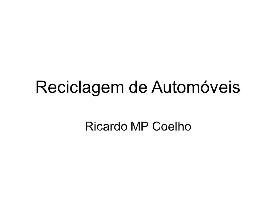 Reciclagem de Automóveis Ricardo MP Coelho