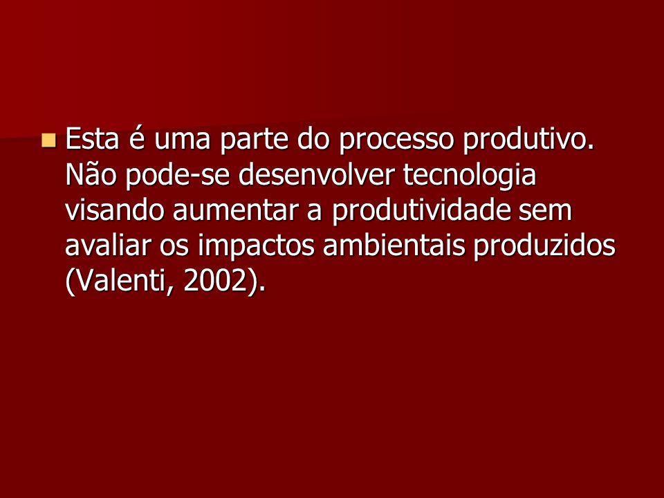 Esta é uma parte do processo produtivo. Não pode-se desenvolver tecnologia visando aumentar a produtividade sem avaliar os impactos ambientais produzi