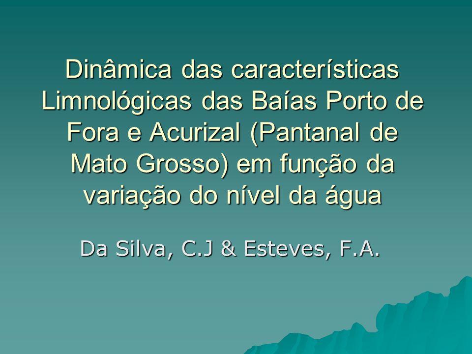 Dinâmica das características Limnológicas das Baías Porto de Fora e Acurizal (Pantanal de Mato Grosso) em função da variação do nível da água Da Silva