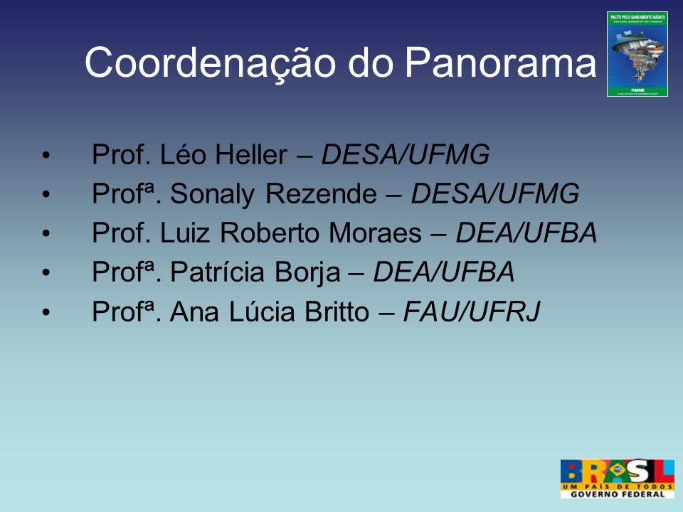 Coordenação do Panorama Prof. Léo Heller – DESA/UFMG Profª. Sonaly Rezende – DESA/UFMG Prof. Luiz Roberto Moraes – DEA/UFBA Profª. Patrícia Borja – DE