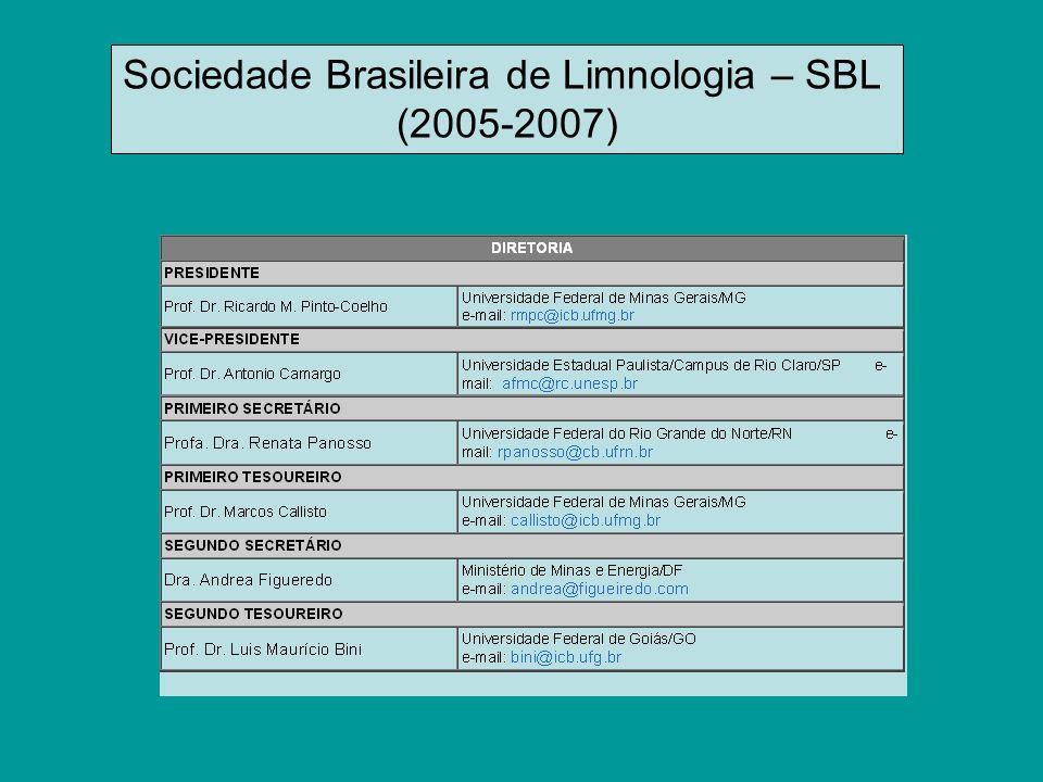 Sociedade Brasileira de Limnologia – SBL (2005-2007)