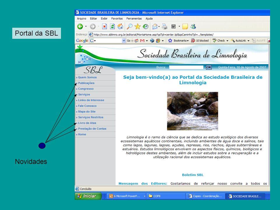 Novidades Portal da SBL