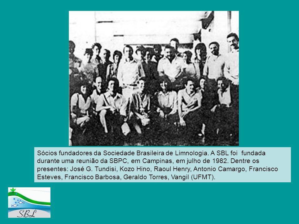 Sócios fundadores da Sociedade Brasileira de Limnologia. A SBL foi fundada durante uma reunião da SBPC, em Campinas, em julho de 1982. Dentre os prese