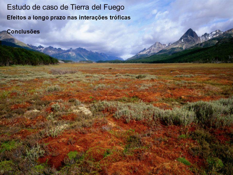 Estudo de caso de Tierra del Fuego Efeitos a longo prazo nas interações tróficas Conclusões