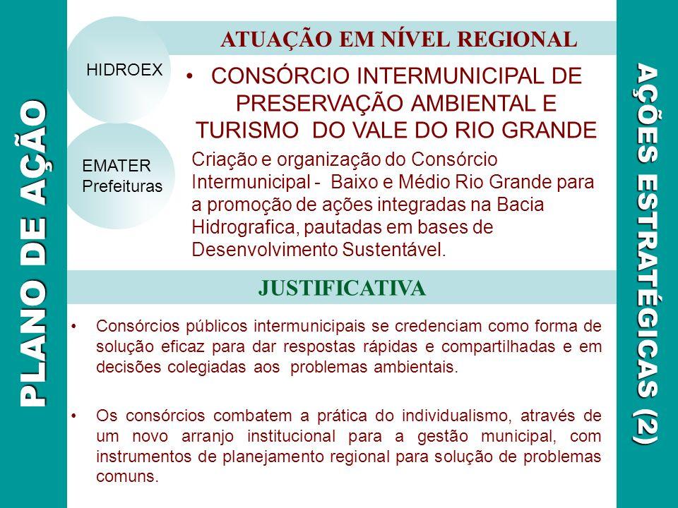 CONSÓRCIO INTERMUNICIPAL DE PRESERVAÇÃO AMBIENTAL E TURISMO DO VALE DO RIO GRANDE Criação e organização do Consórcio Intermunicipal - Baixo e Médio Ri