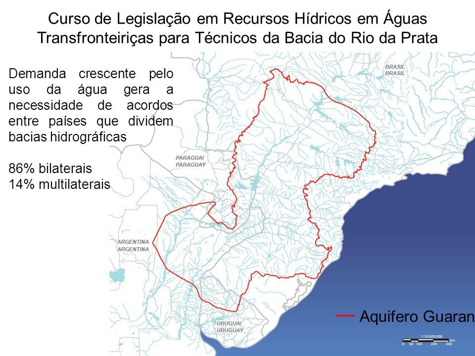 Curso de Legislação em Recursos Hídricos em Águas Transfronteiriças para Técnicos da Bacia do Rio da Prata Aquifero Guarani Demanda crescente pelo uso