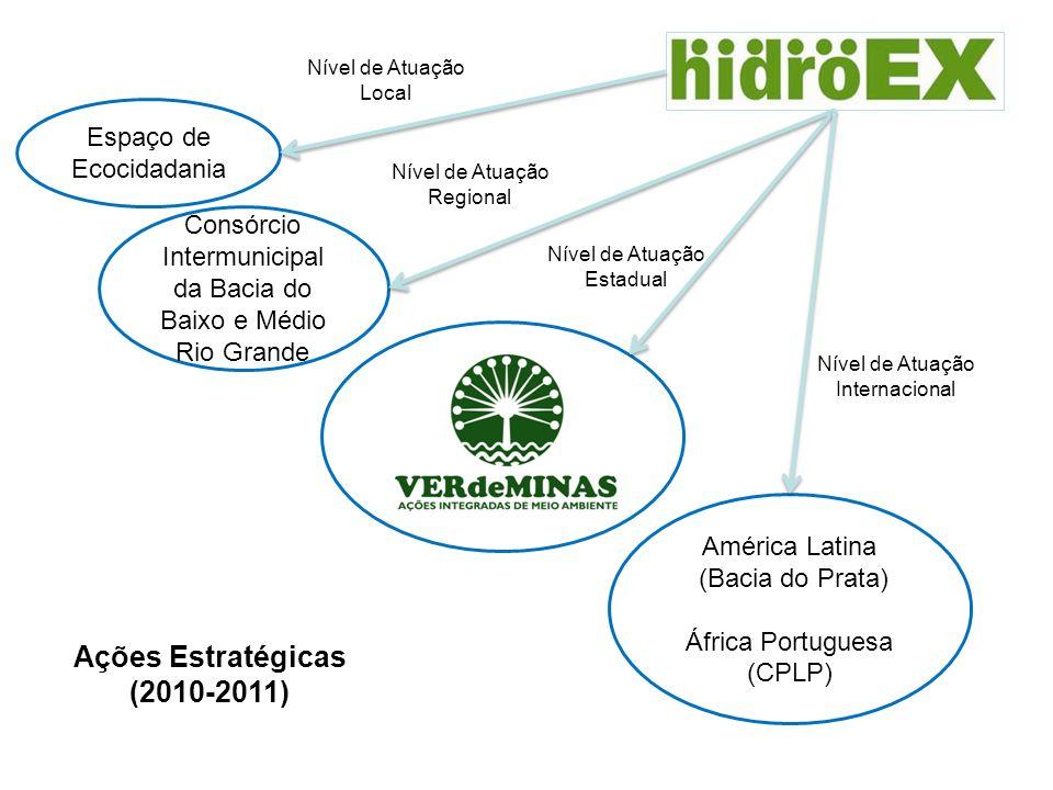 Espaço de Ecocidadania Consórcio Intermunicipal da Bacia do Baixo e Médio Rio Grande América Latina (Bacia do Prata) África Portuguesa (CPLP) Ações Es