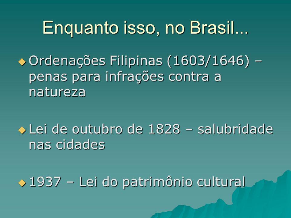 Enquanto isso, no Brasil...