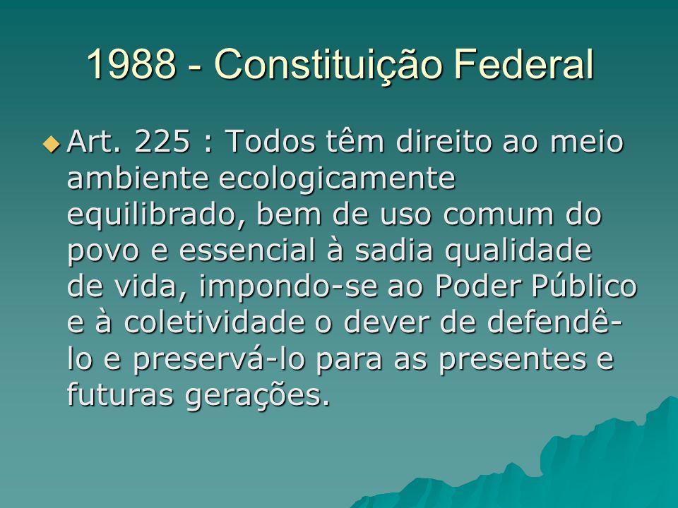 1988 - Constituição Federal Art.
