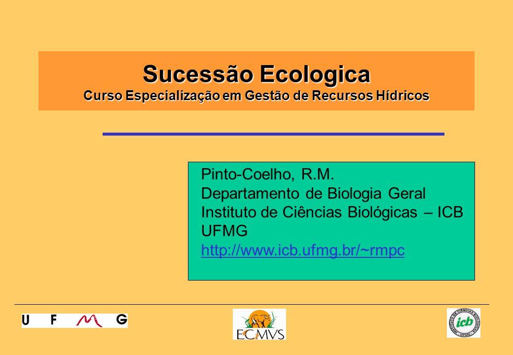 Sucessão Ecologica Curso Especialização em Gestão de Recursos Hídricos Pinto-Coelho, R.M. Departamento de Biologia Geral Instituto de Ciências Biológi