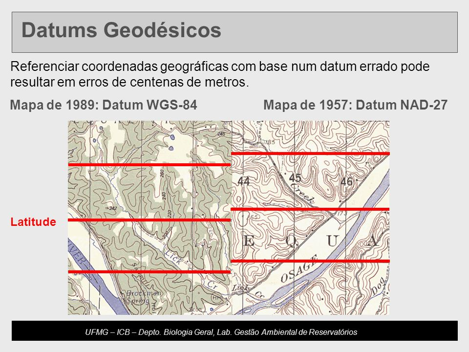 Developed by: Host Updated: 10.20.04 U4-m16.2-s11 UFMG – ICB – Depto. Biologia Geral, Lab. Gestão Ambiental de Reservatórios Mapa de 1989: Datum WGS-8