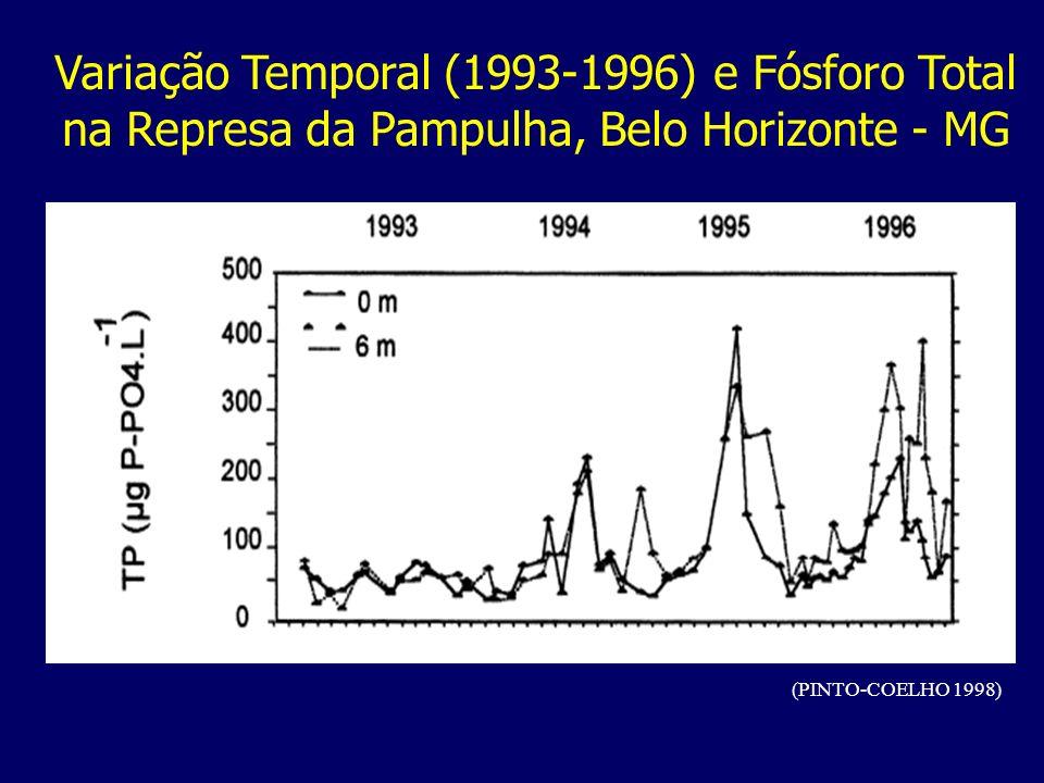 Variação Temporal (1993-1996) e Fósforo Total na Represa da Pampulha, Belo Horizonte - MG (PINTO-COELHO 1998)