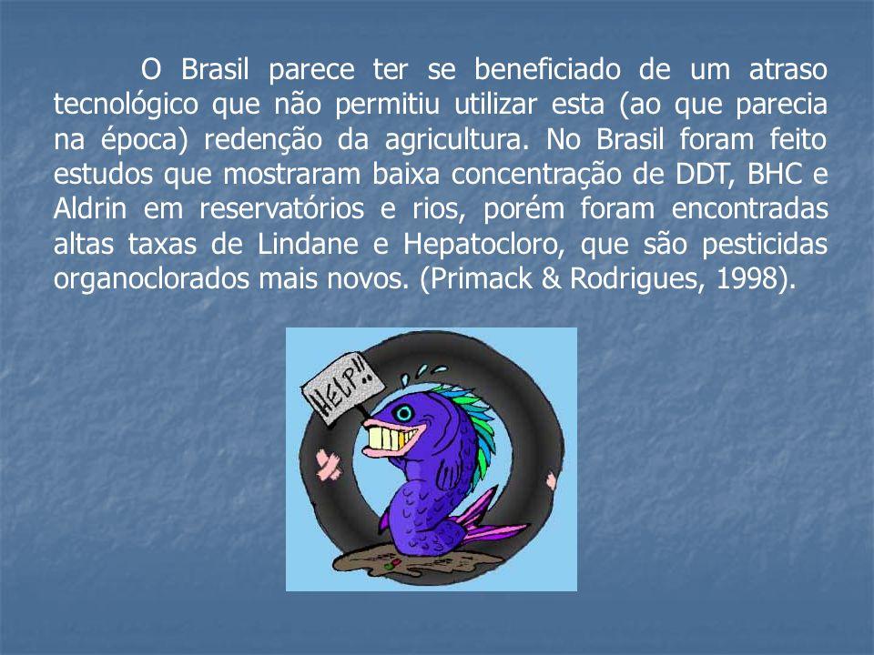 O Brasil parece ter se beneficiado de um atraso tecnológico que não permitiu utilizar esta (ao que parecia na época) redenção da agricultura. No Brasi