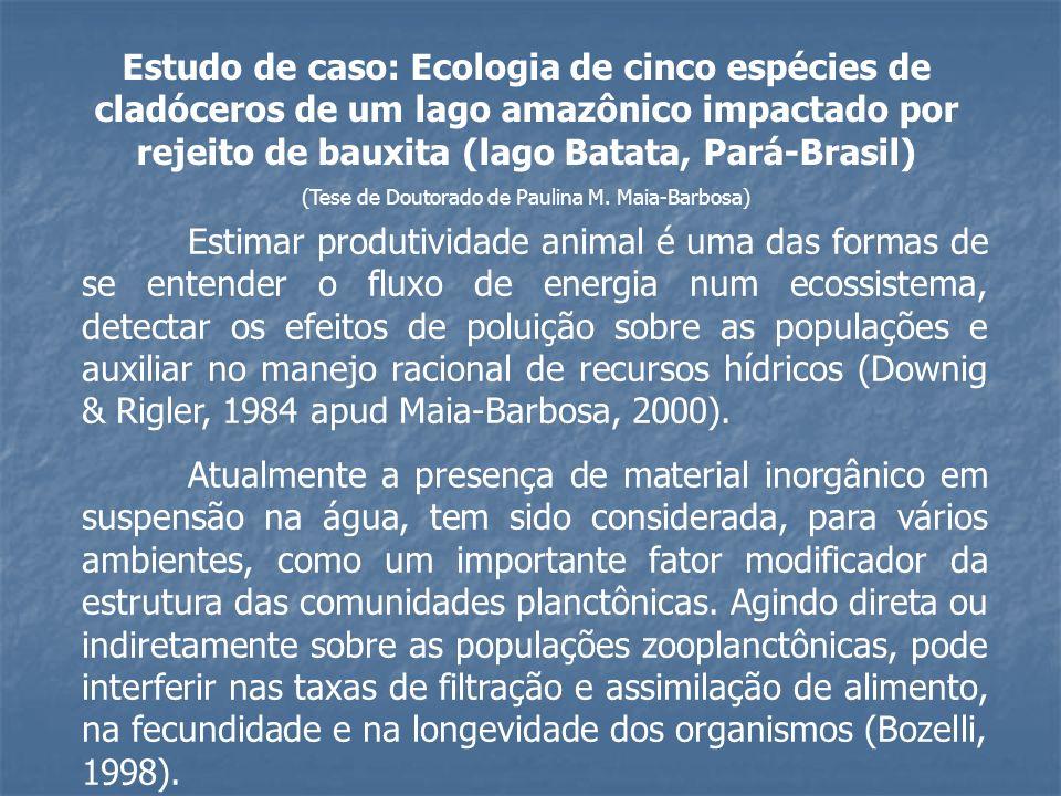Estimar produtividade animal é uma das formas de se entender o fluxo de energia num ecossistema, detectar os efeitos de poluição sobre as populações e